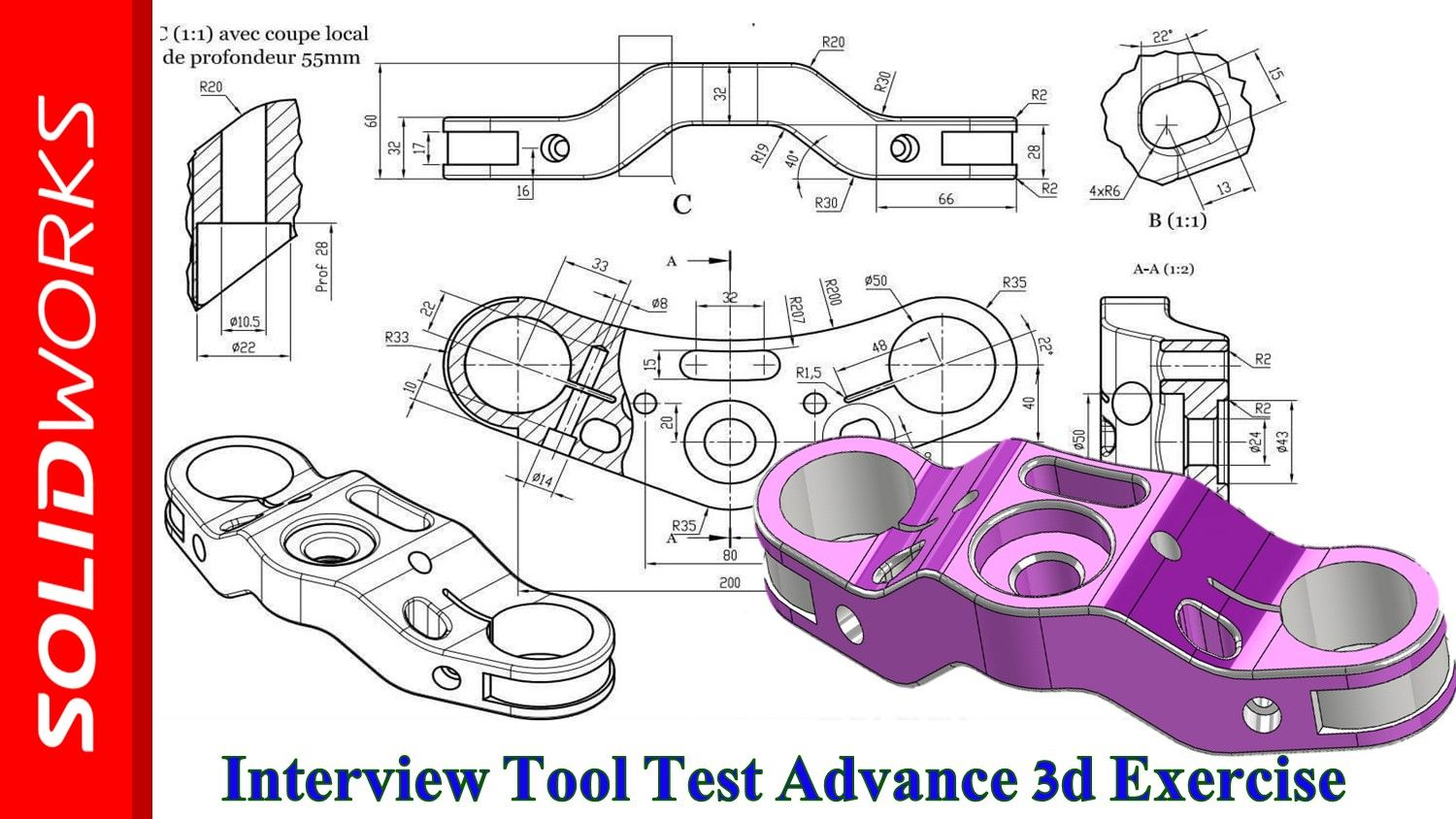 Learn Creating Complex 3d Models Solidworks Interview Tool Test Solidworks Tutorial Solidworks 3d Model