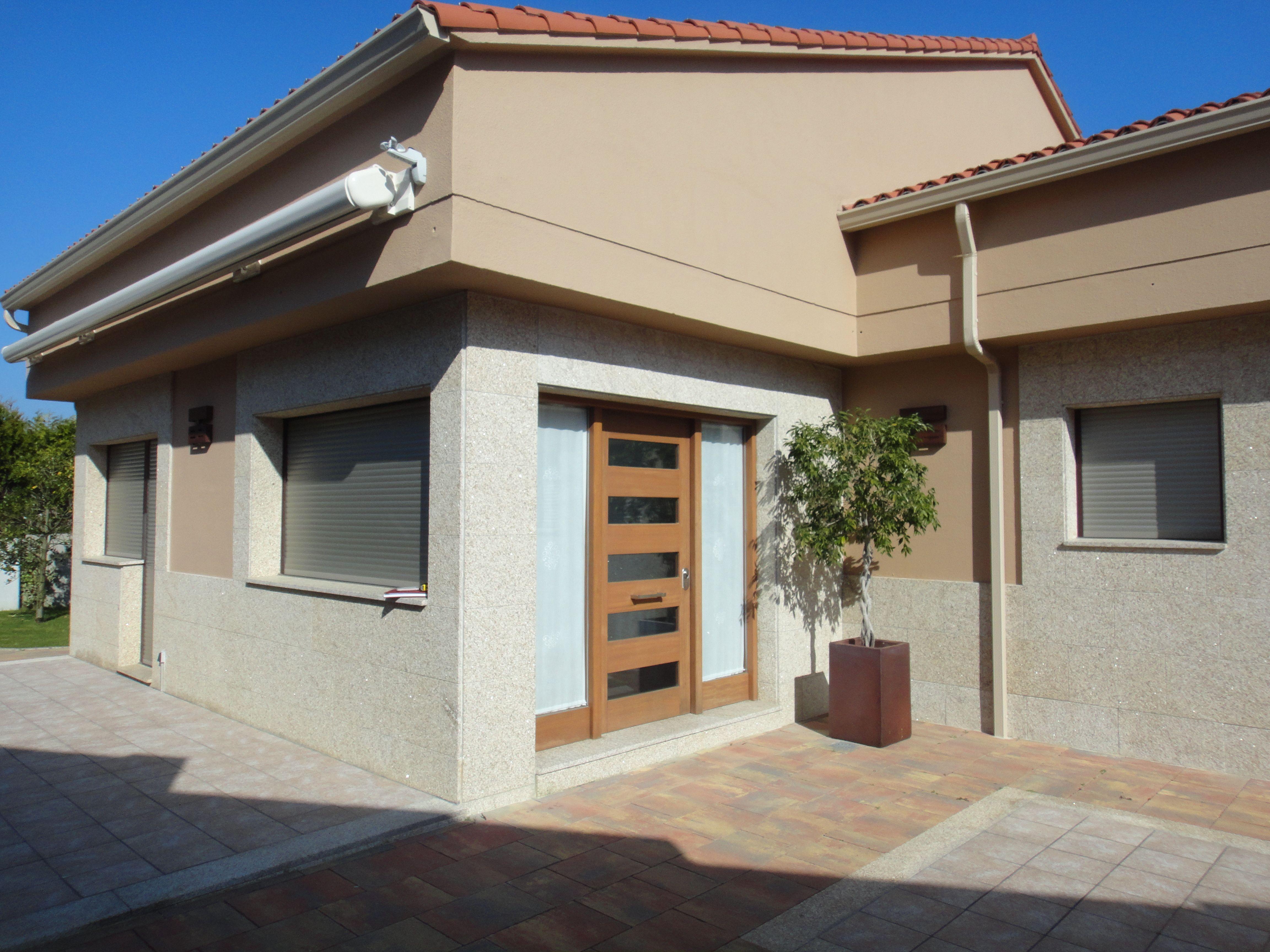 Df5411 esquemas de color casa exteriores con persianas negras - Exterior Style Contemporaneo Color Marron Beige Marron Marron Gris Dise Ado Por Fernando Sanmartin