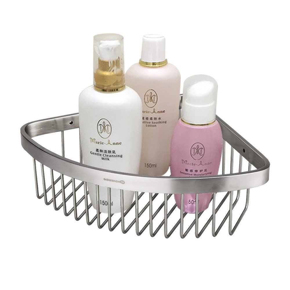 Shower Caddy Basket Corner Shelf Steel Bathroom Organizer Storage ...