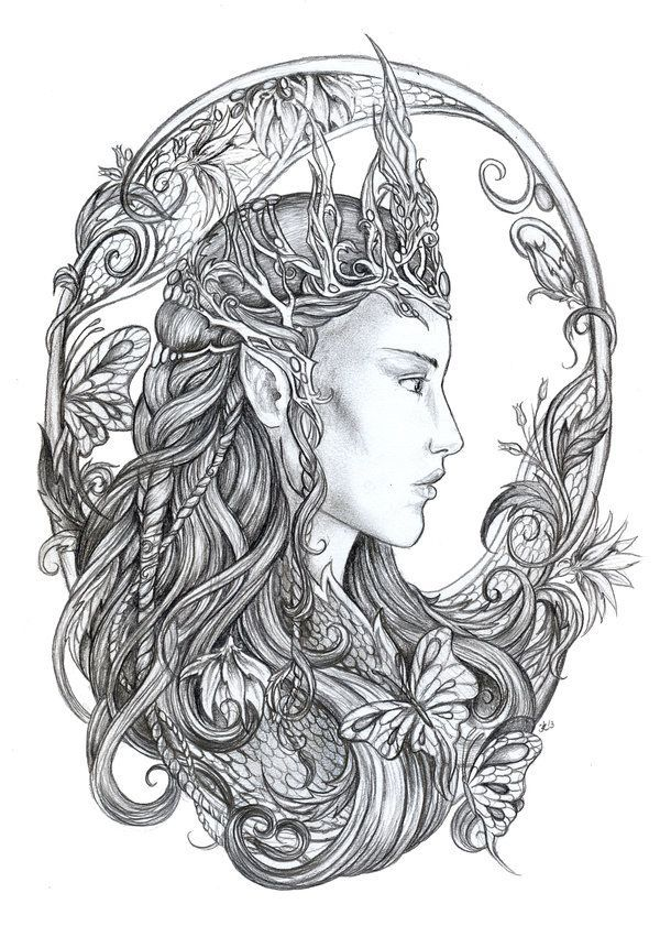 Beautiful Fairy Coloring Pages   Adobe Photoshop CS6 (Windows) by ...
