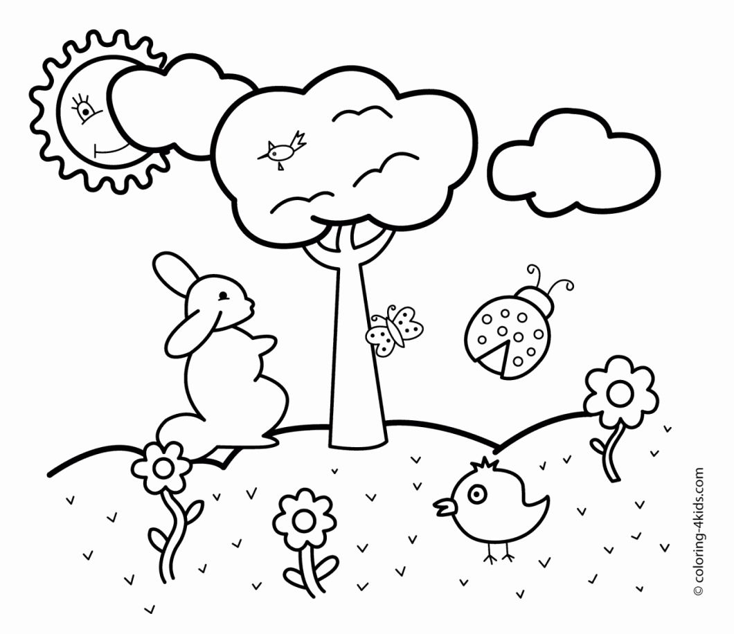Coloring Pages For Kindergarten Pdf Beautiful Coloring Ideas 62 Tremendous Free Coloring In 2020 Preschool Coloring Pages Spring Coloring Pages Spring Coloring Sheets