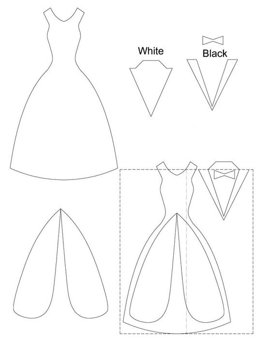 bride/groom template   MANUALIDADES   Pinterest   Template, Cards ...