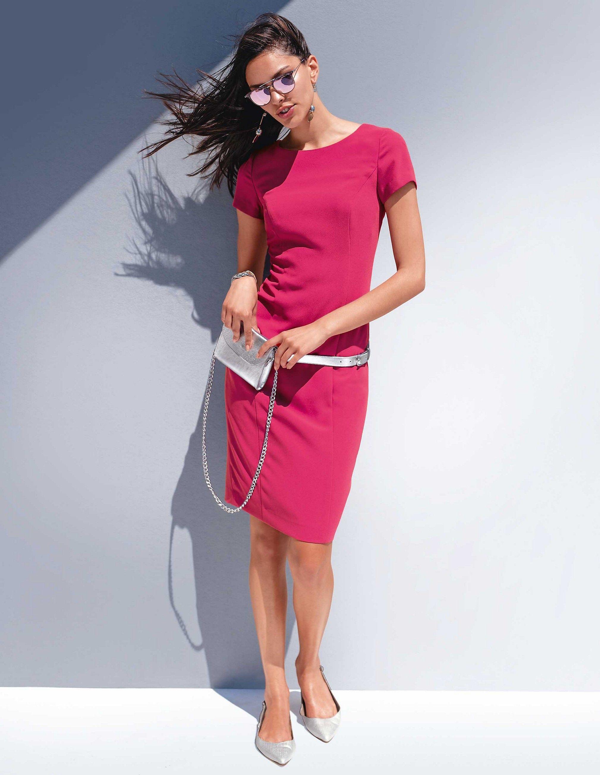 d7138386379ba Etuikleid mit Halbarm, erdbeerpink, pink | MADELEINE Mode Etuikleid mit  Halbarm, erdbeerpink,