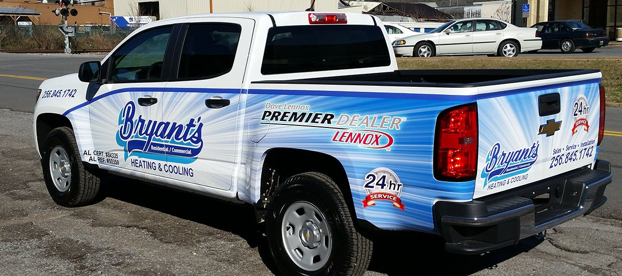 Partial Truck Wrap For Bryant S Heating And Cooling Vehiclewrap