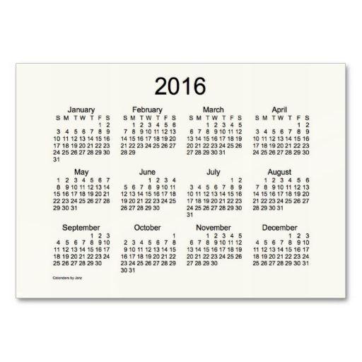 2016 Pocket Calendar Business Card Template Ads4everyone Holiday