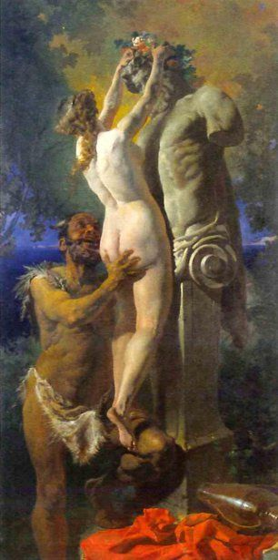 Mihaly Zichy (1827 – 1906, Hungarian) crowning-bacchus.jpg (306×615)