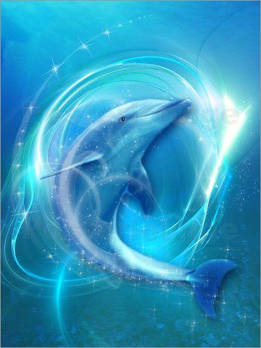 poster delfin energie kunst von anderen k nstlern pinterest delphin kunst tier und bilder. Black Bedroom Furniture Sets. Home Design Ideas