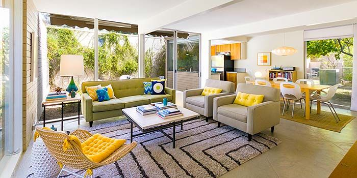A Fabulous Turnkey Mid Century Modern Furnished Condo At The