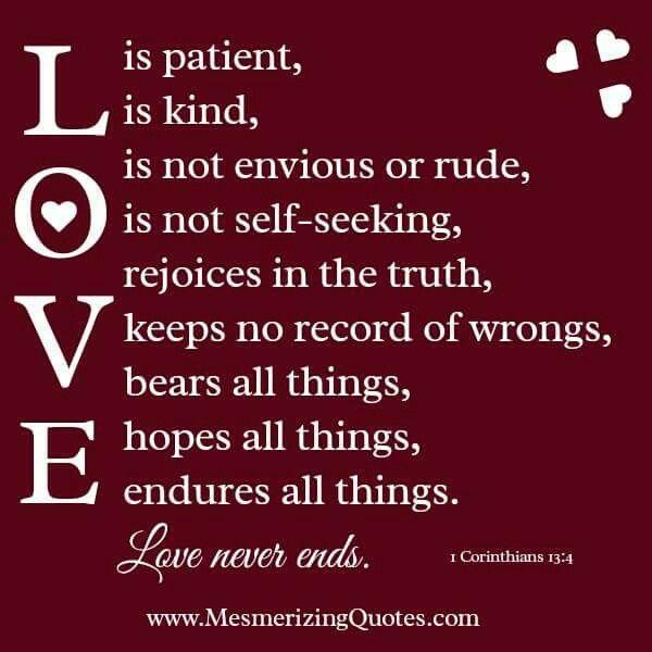 1 Coriinthians 13:4