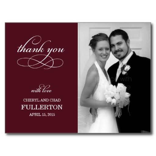 simply pretty wedding thank you card post card yes i can
