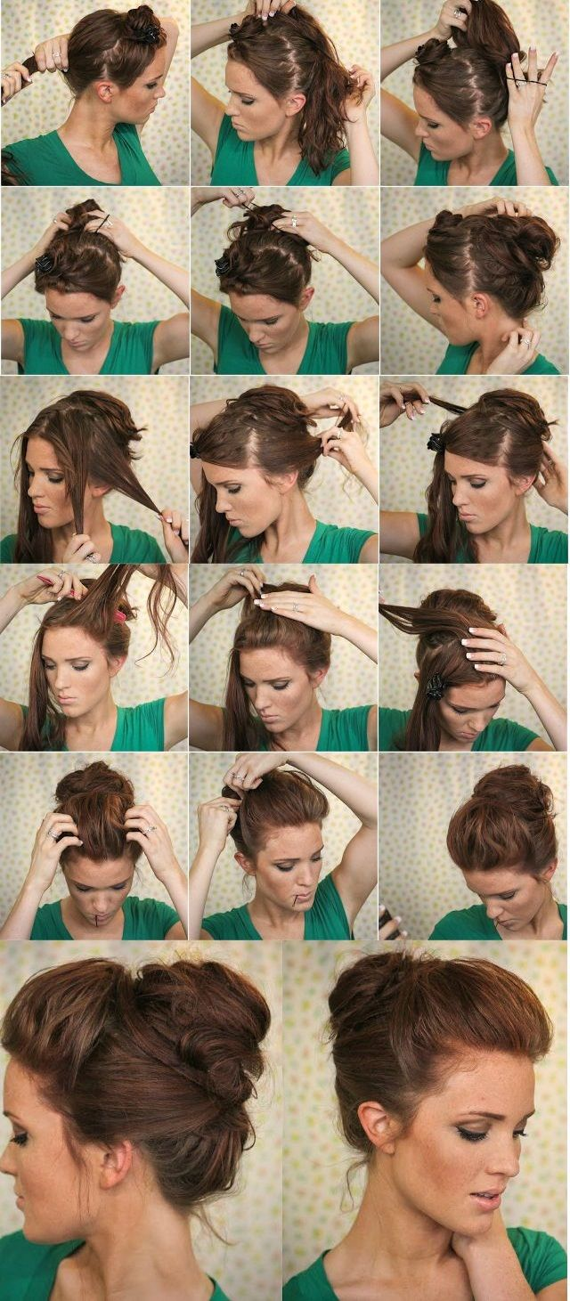 Super easy knotted bun hairstyle tutorial pinterest super easy