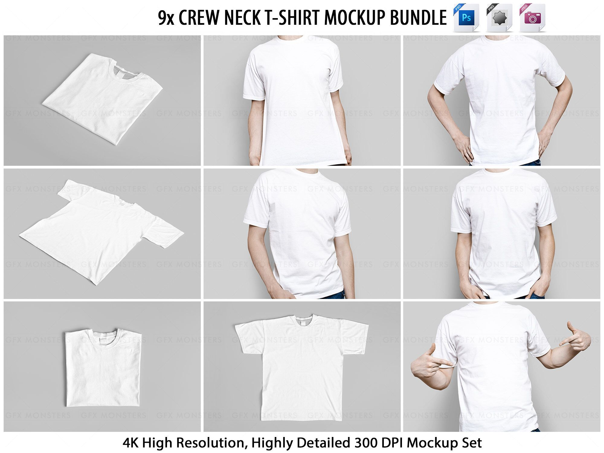 Download T Shirt Mockup Psd Crew Neck 9 Jpeg 9 Png 9 Psd Etsy In 2021 Clothing Mockup Crew Neck Tshirt Tshirt Mockup