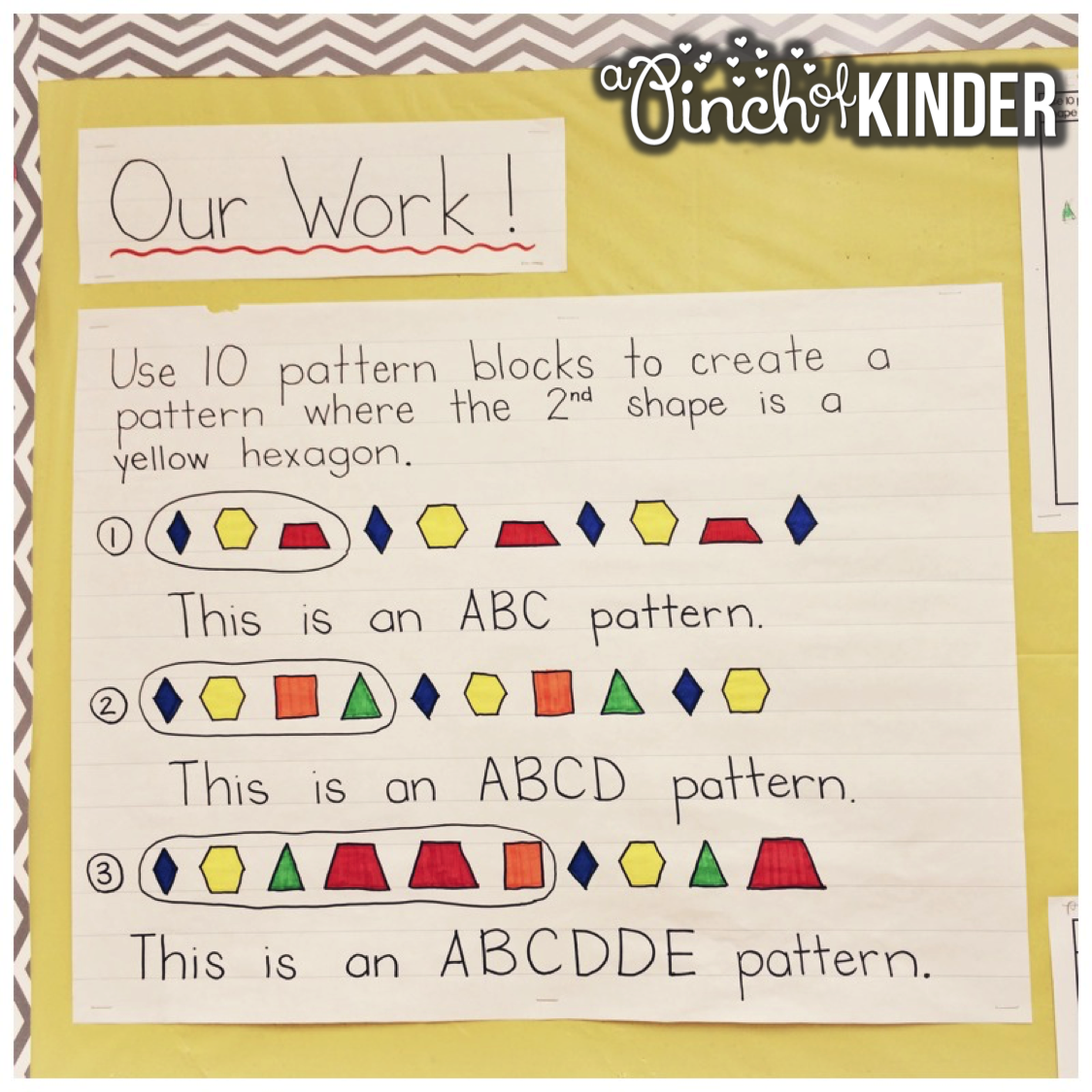 A Pinch Of Kinder Open Ended Patterning Question