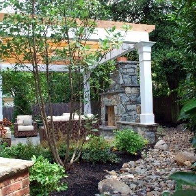 Old Chester Residential Landscape Design | Courtyard Design & Landscape Fireplace MD, VA, DC
