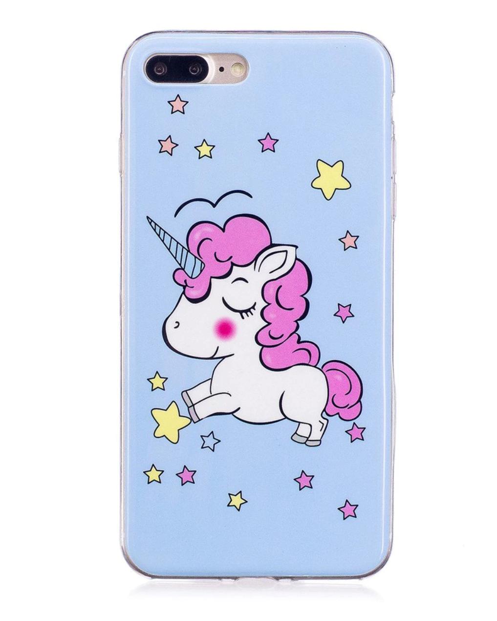 Carcasa Iphone 7 Plus y 8 Plus fantasia unicornio