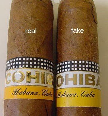 Real Fake Cohiba compare