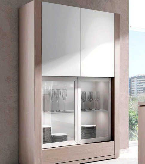 Vitrinas de madera para una sala comedor para m s informaci n ingresa en http fotosdesalas - Vitrinas para vajillas ...
