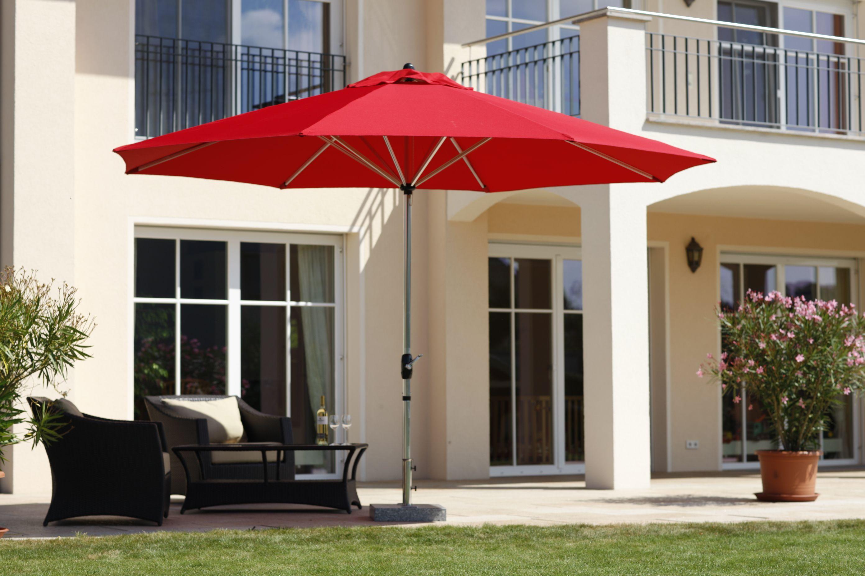 Schneider Sonnenschirm Florenz 400 cm rund red, Lifestyle für ...