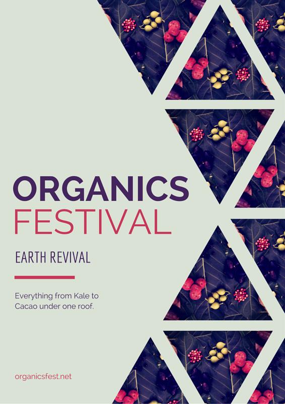 Organic Produce A4 Flyer - Canva