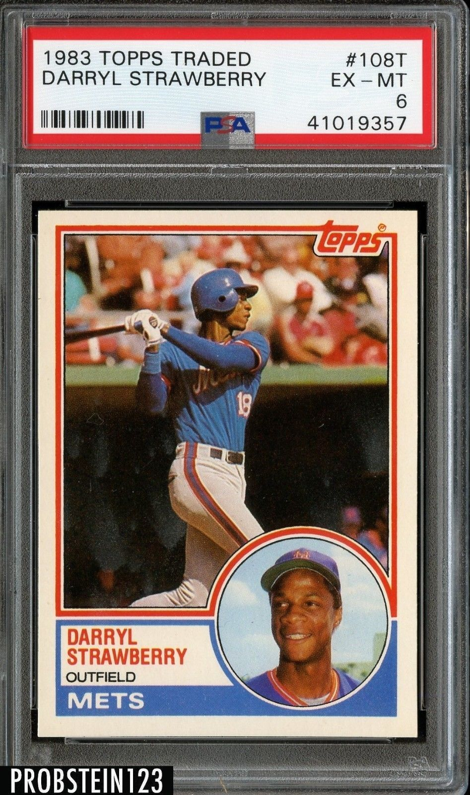 1983 topps traded 108t darryl strawberry mets rc rookie