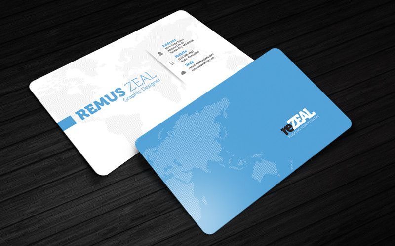 Complimentary Card  Rezeal Business Card Design  Free Premium