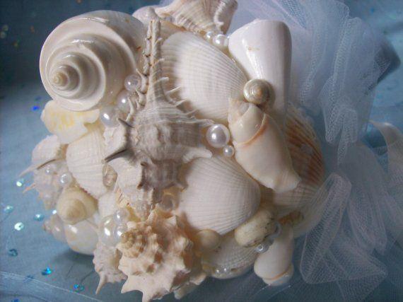 She sells sea shells bouquet by FreeSpiritDesign on Etsy, $65.00