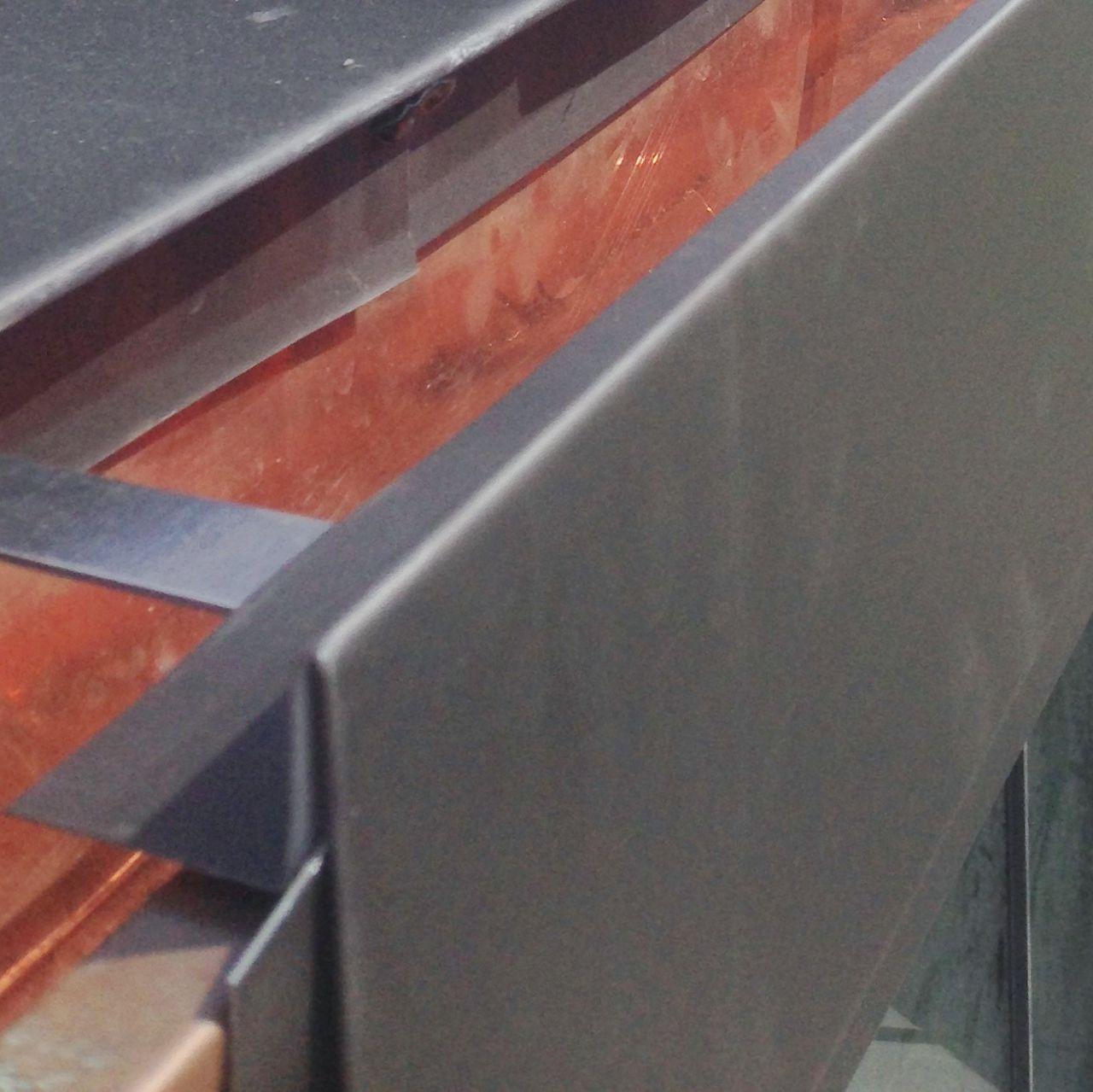 Wm Zinc Roof And Gutters In 2020 Zinc Roof Gutters Stainless Steel Brackets