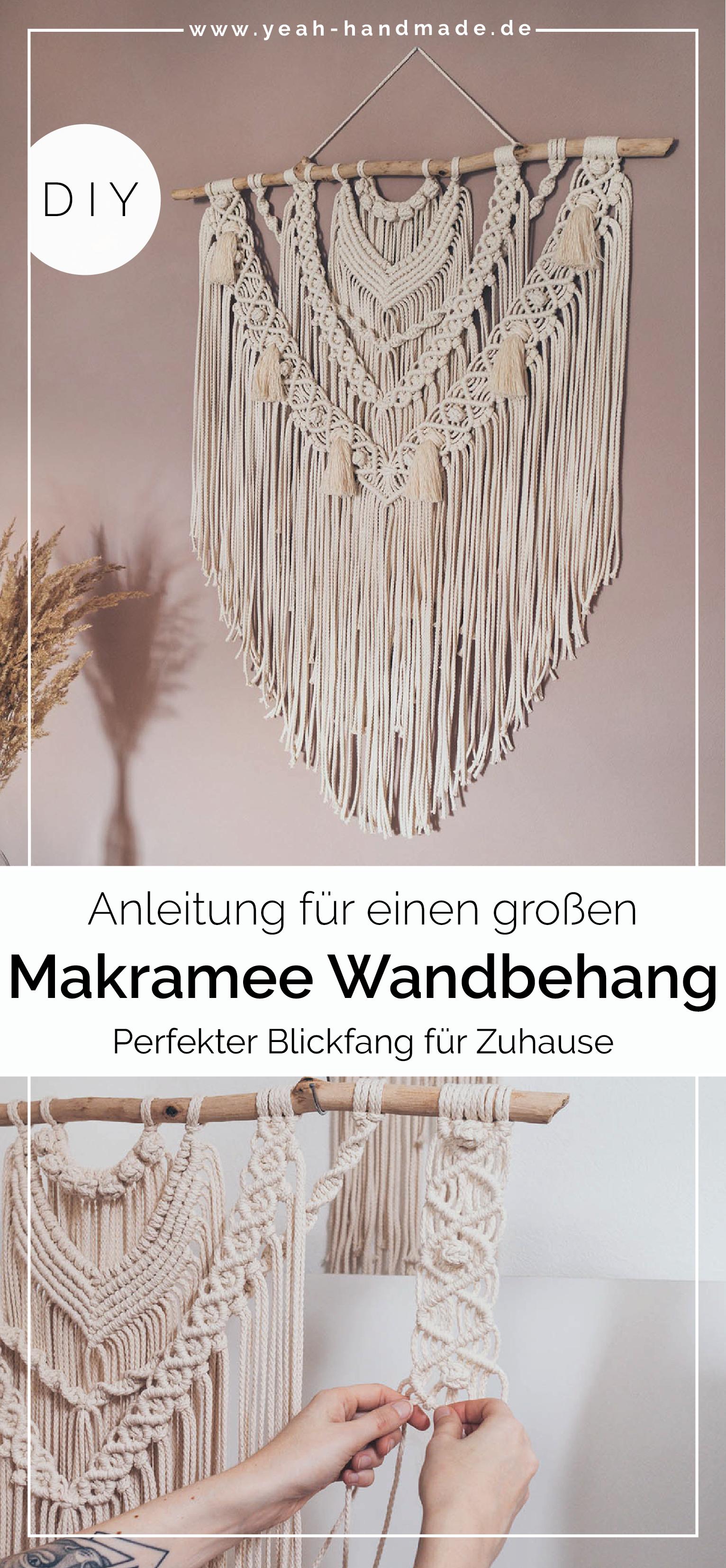 DIY Großen Makramee Wandbehang selber machen