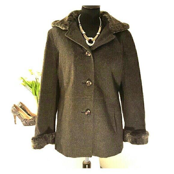 Beautiful Braetan gray wool coat M | Coats, Beautiful and Hoods