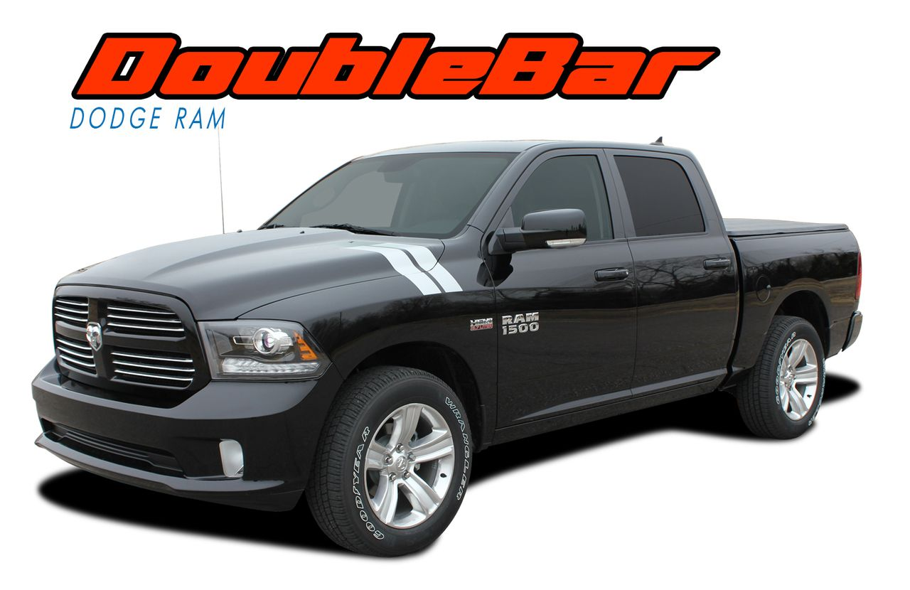 2009 2010 2011 2012 2013 2014 2015 2016 2017 2018 Dodge Ram Hood Hash Marks Vinyl Graphics Decal and Stripes Kits - Model Specific Car & Truck Vinyl Graphics Racing Stripes Rally Hood Decals | 3M 1080 & Avery Supreme Wrap Air Release Cast Vinyl | Factory OEM Quality Fit & Style