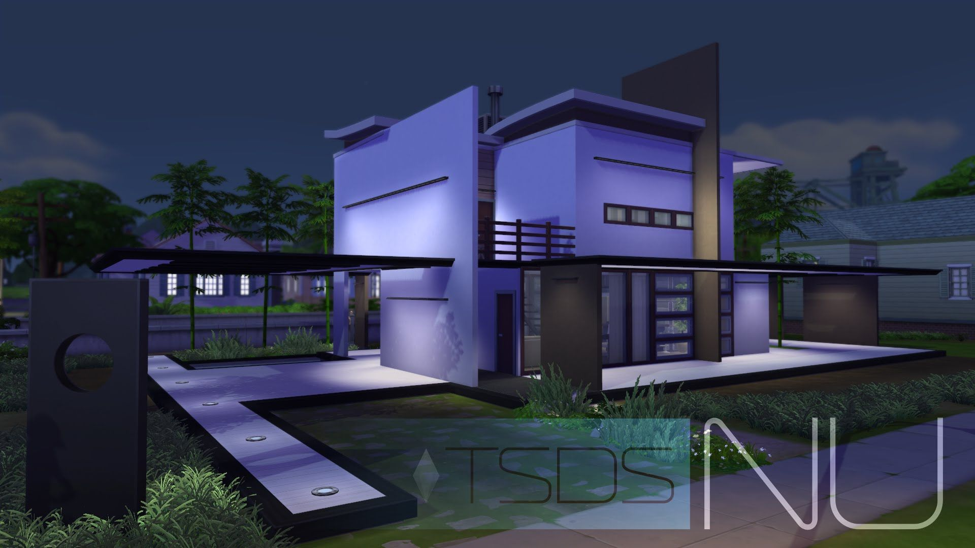 The sims 4 modern house modegant hd download the for Sims 4 modern house plans