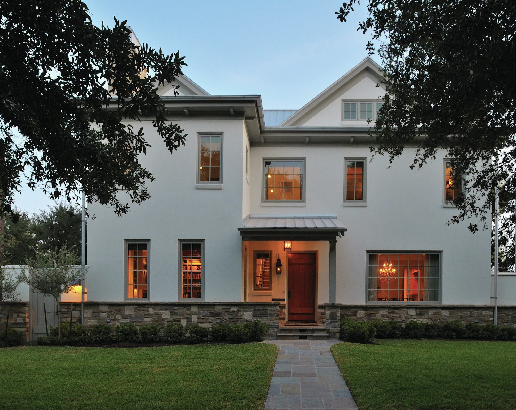 shaker lodge is a new house in an old neighborhood the home is a blend - Shaker House Decorating