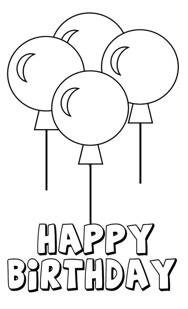 #balloon #birthday #coloring #happy #pages #2020 | Happy ...