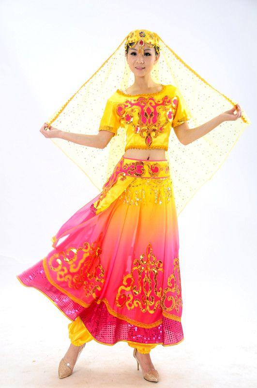 33c8fd97d947 Click to Buy    Xinjiang Turpan minority dance costumes Chinese folk ...
