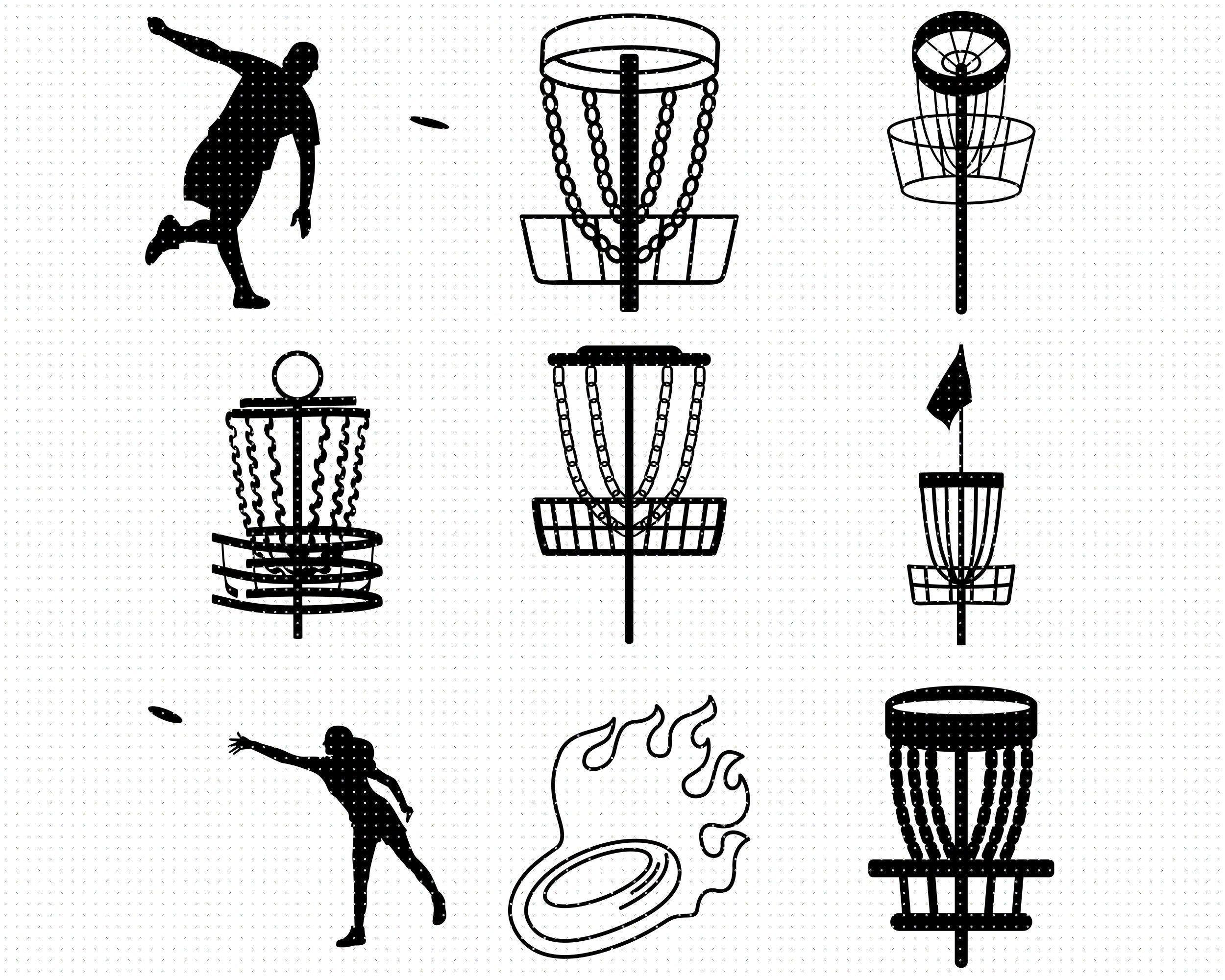 Disc Golf Svg Bundle Frisbee Svg Eps Png Dxf Clipart For Etsy In 2021 Disc Golf Custom Disc Golf Disc Golf Shirt