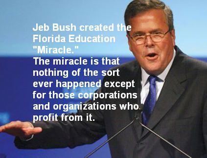 Jeb Bush Quotes Custom Jeb Bush Wrecked Education In Florida  Wayne Besen  Political