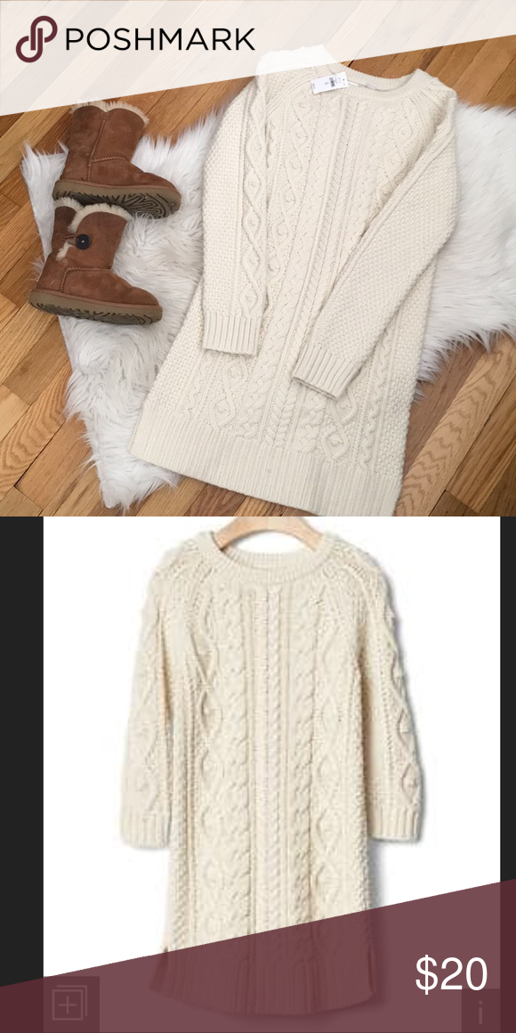 8595f7f000e Gap Kids Sweater Dress BNWT. Great cable knit sweater. Pair it with any  color tights or leggings. XL is a girls 12 GAP Dresses
