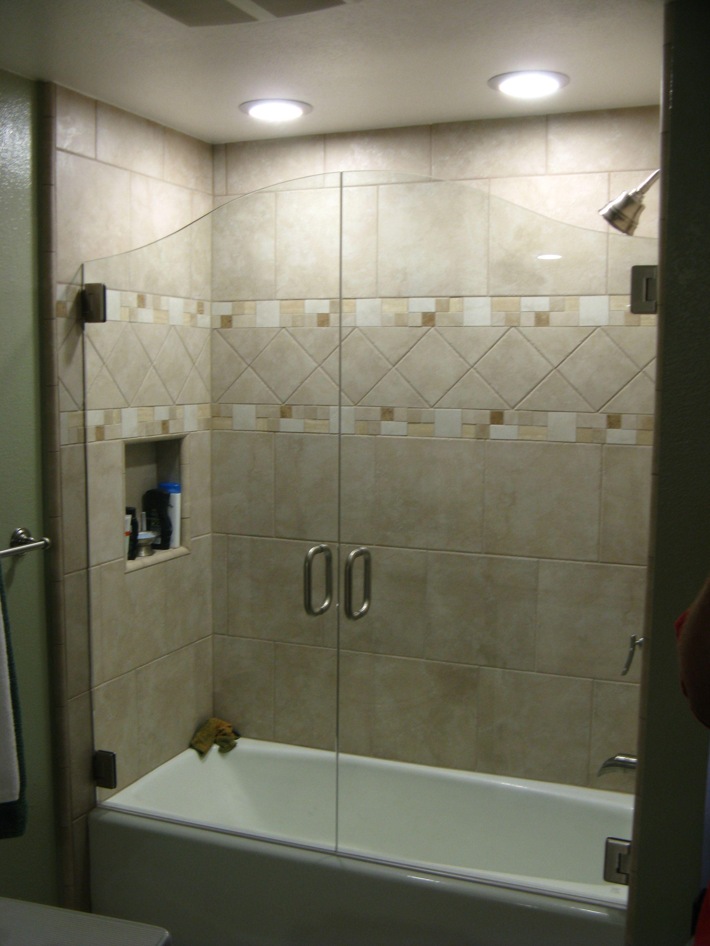 Frameless Shower Door For Bathtub Icsdri Throughout Measurements