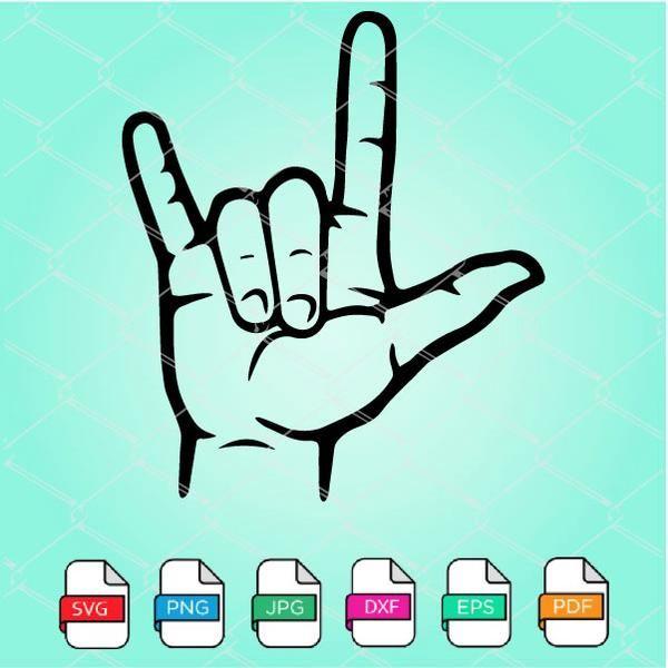 Download ASL SVG - Love Sign SVG in 2020   Love signs, Sign ...