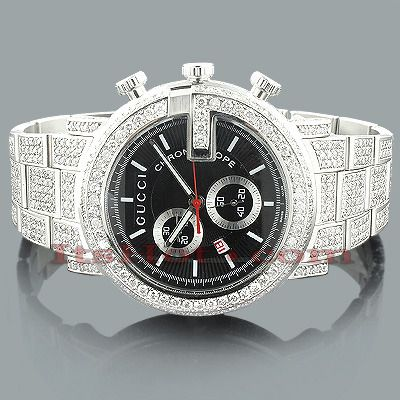 genuine mens gucci chrono diamond watch 15ct ray ban sunglasses genuine mens gucci chrono diamond watch 15ct