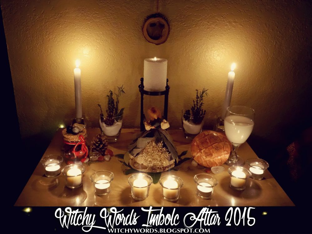 Witchy Words: Imbolc Altar 2015