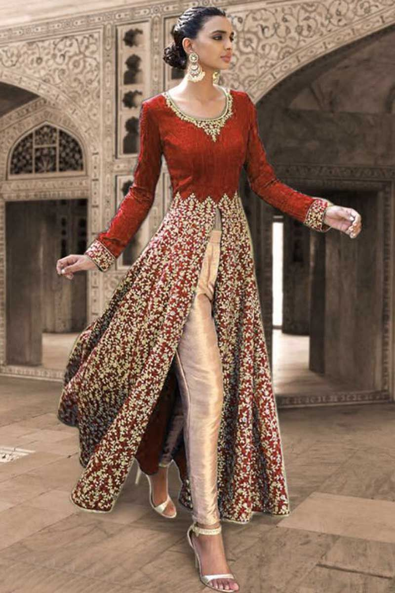 Red Georgette Designer Salwar Kameez | ECLECTIC style ...