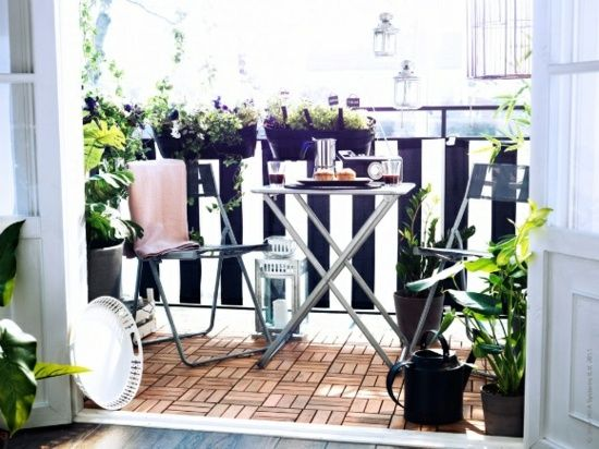 Balkon Gestalten Holz Fliesen Ikea Verlegen Interior Balkonideen