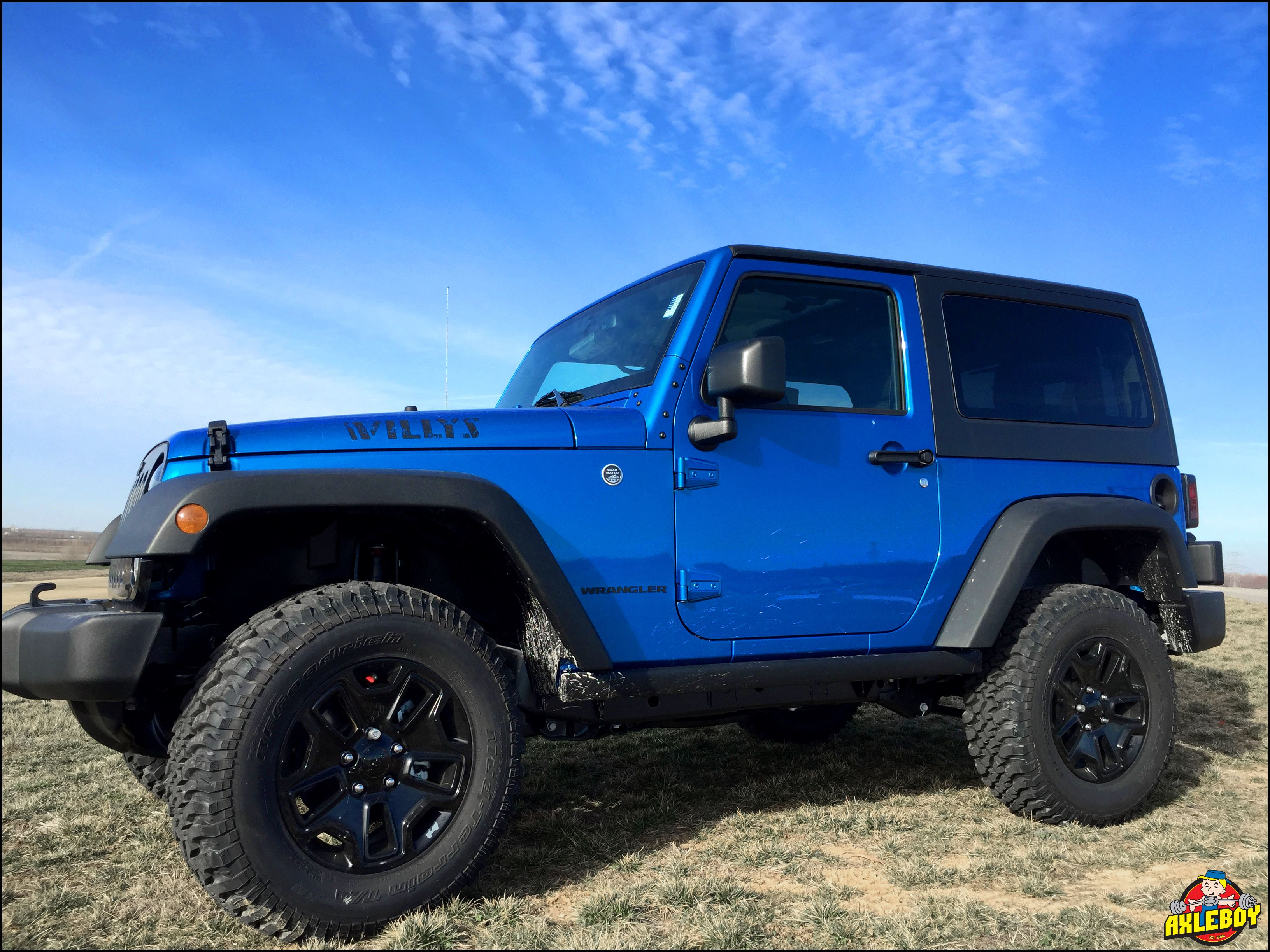 Blue 2016 Jeep Wrangler Willys With A 2 Teraflex Leveling Kit