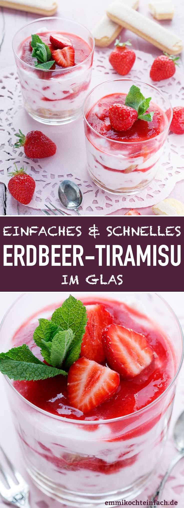 Photo of Erdbeer Tiramisu im Glas – Ein Dessert-Traum – emmikochteinfach