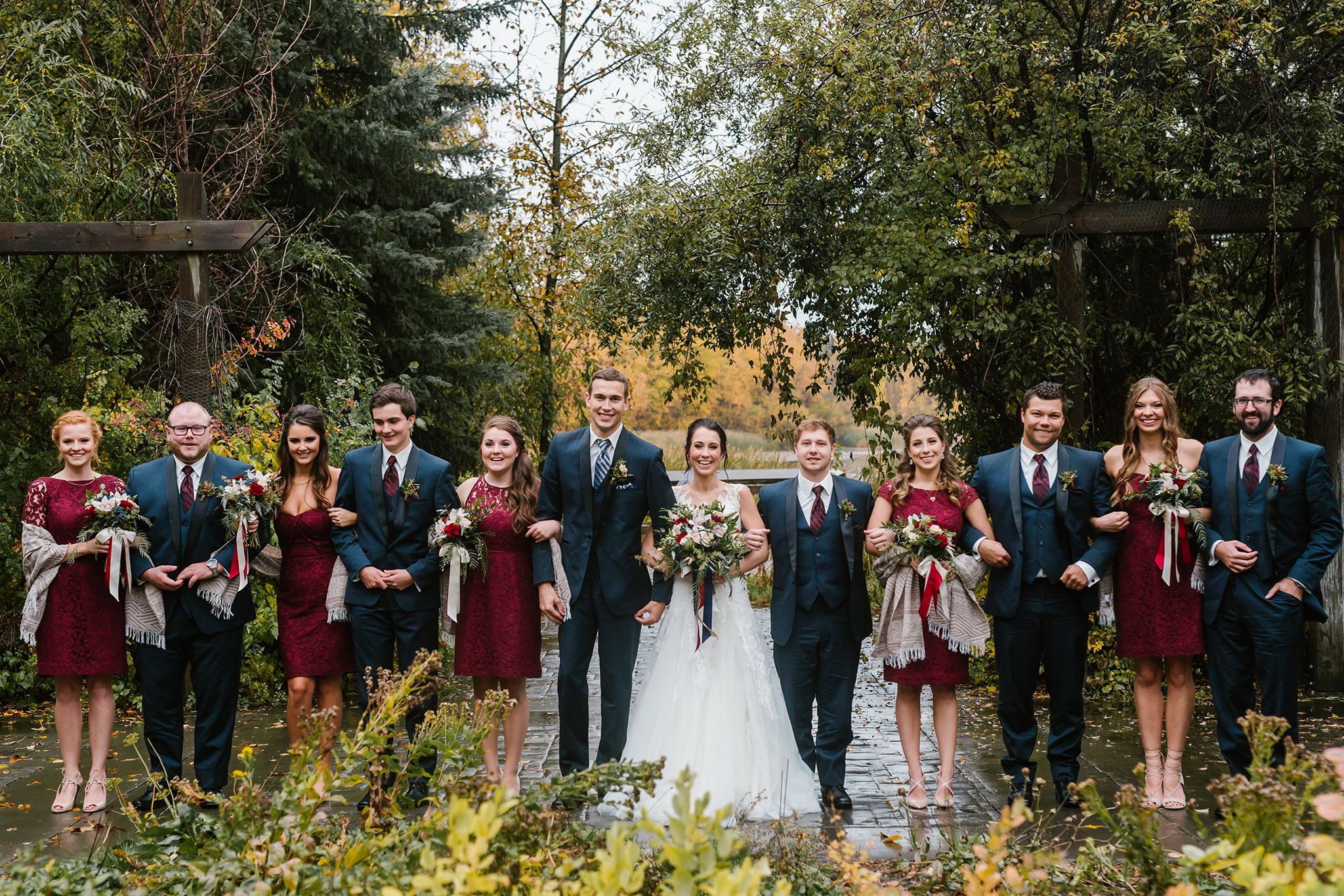 Wedding decorations yellow and blue november 2018 Banff Wedding Photographer Canmore Lake Louise Mobile Site in
