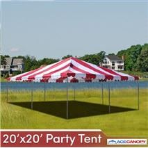 Party Tent 20' x 20' - Pro Grade 2 Inch Pole Dia | Wedding