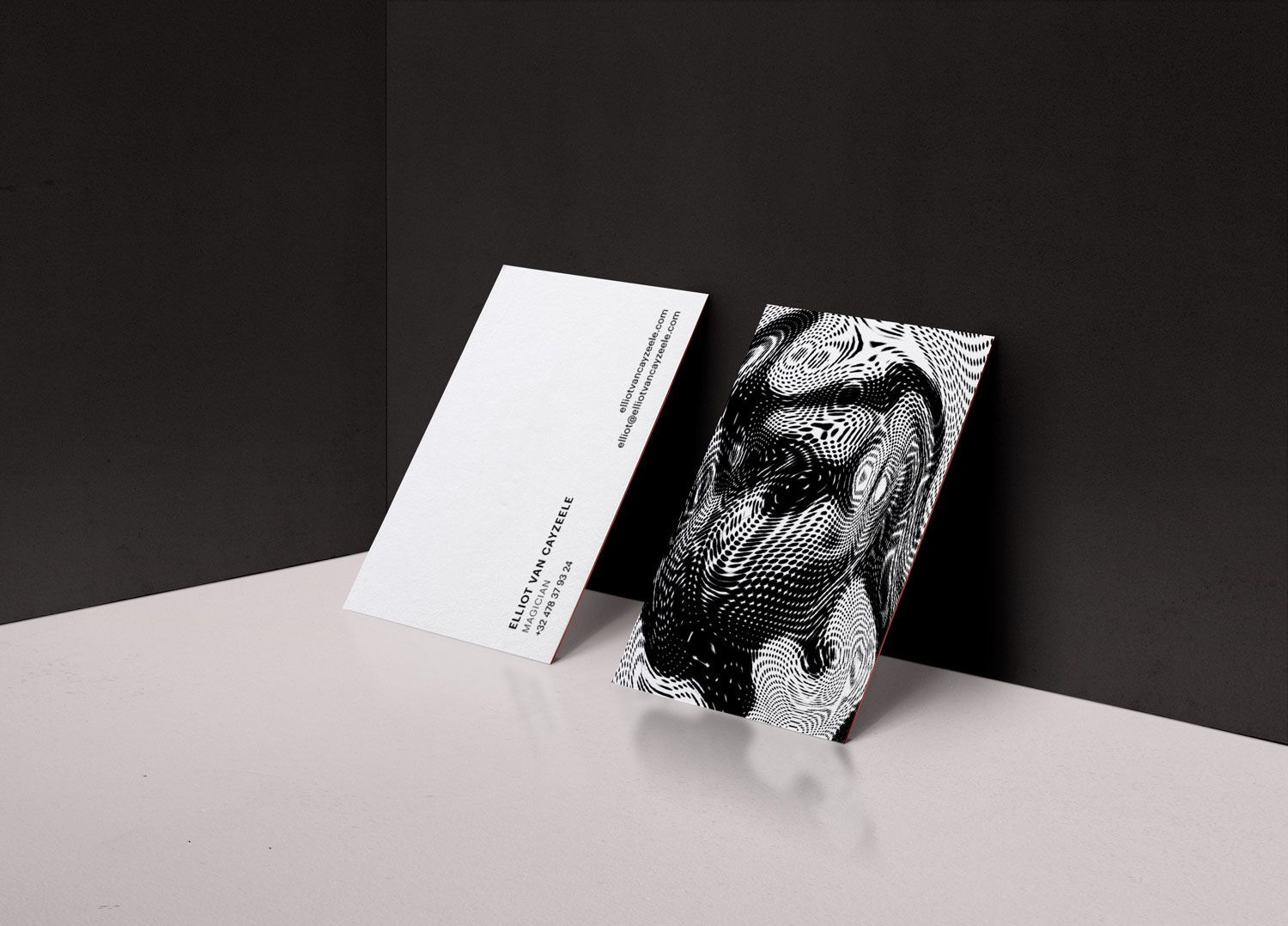 Magician Business card for   black and white, experimental, graphic ...