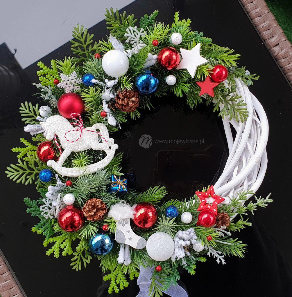 DIY Świąteczne i zimowe wianki na drzwi Moje Własne