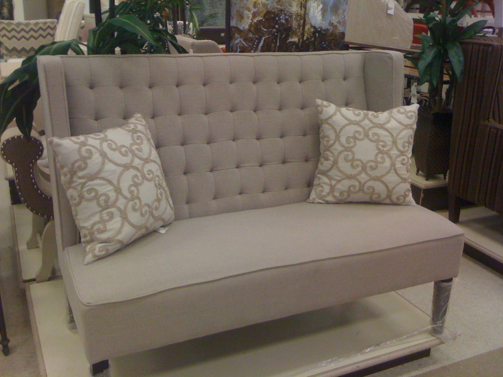 Grey Loveseat from Homesense House Projects